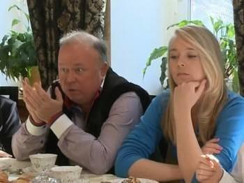 Андрей Караулов с женой Юлией Мареевой